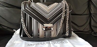 834c16be46835 Genuine Michael Kors Whitney large quilted tri colour convertible leather  bag