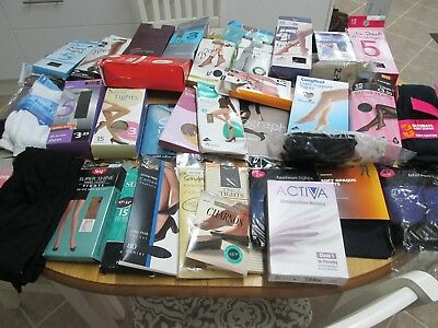 Job Lot Of Ladies Tights - Knee And Ankle High And Socks  Over 70 Pairs