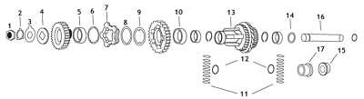 Andrews 206330 Cluster Gear for 4-Speed -1.23 Ratio (13)