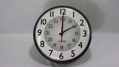 "Wall Clock Primex 12.5"" Wireless Synchronized Military and Standard Time 14155"