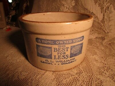 Antique Butter Crock-Solitaire Grocery-Limon,colorado