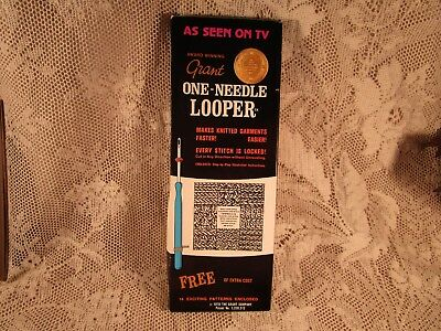 1970 Grant One-Needle Knitting Looper In Original Box