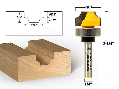 """7/32"""" Radius Round Over Groove Router Bit - 1/4"""" Shank - Yonico 13081qt"""