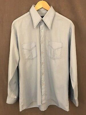Vintage JC Penney 1970s Button Up Long Sleeve Shirt Men's Size Large