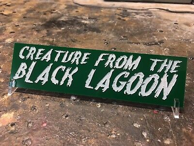 Creature From The Black Lagoon Display Plate Plaque By Chainsaw Graphics