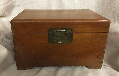 Appraised:  Vintage Mid 20th Century, hand made wooden jewelry box & Lock