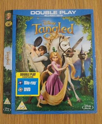 Replacement Slipcover For Disney Tangled Double Play Blu-Ray (Card Sleeve Only)