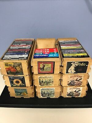 9 Vintage Napa Valley Cassette Crate Holders W/Tapes