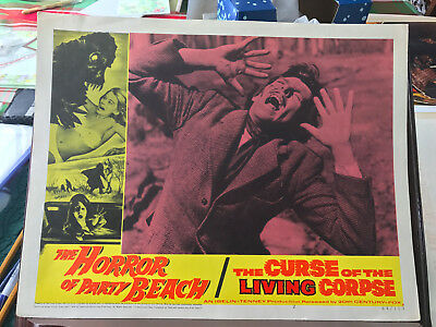 "The Horror Of Party Beach/The Curse of The Living Corpse 1964 11x14"" lobbycard"