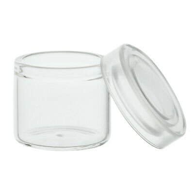 6ml Glass No Neck Concentrate Container w/ Clear Snap-on Lid