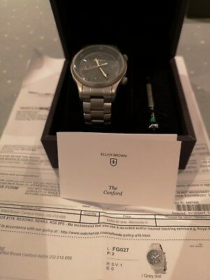 Men's Elliott Brown Canford Watch - 44mm - Ref. 202-018-B06 with box & papers