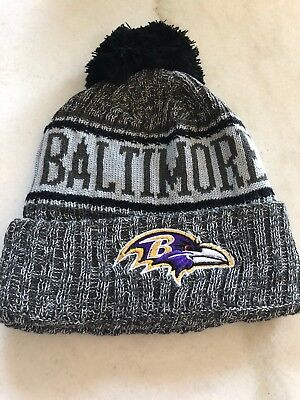 300ccd5a6b9 BALTIMORE RAVENS NFL Knit Beanie One Size Fits All Black Winter Hat ...