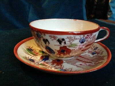 Antique Bone China Cup And Saucer