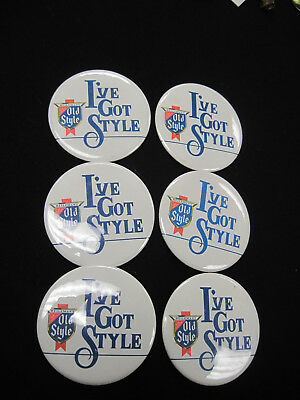 6 Vintage Heilmans I Got Style OLD STYLE BEER Pins 1980s Pinback Button Lot Nice