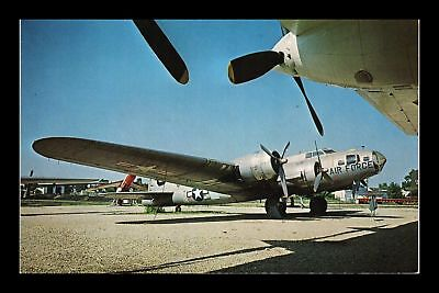 Dr Jim Stamps Us Flying Fortress Bomber Boeing Air Force Airplane Postcard
