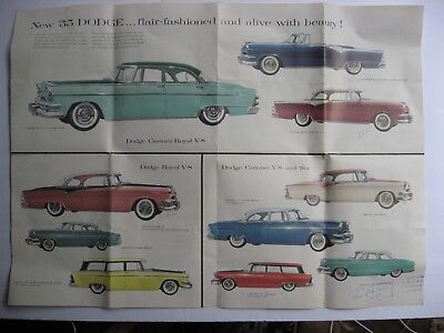 1955 Dodge Automobile Advertising Brochure Gale Motors Inc.