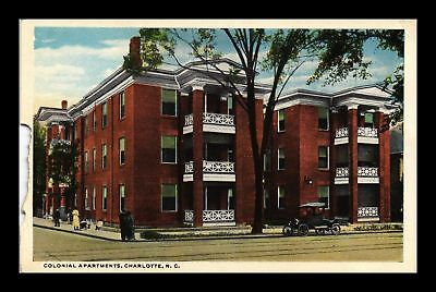 Dr Jim Stamps Us Colonial Apartments Charlotte North Carolina Postcard