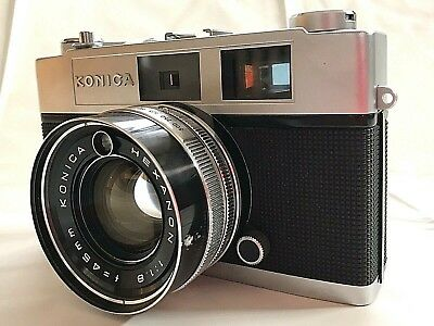 Konica Auto S2 35mm Rangefinder Hexanon F1.8 45mm Film Camera from JAPAN