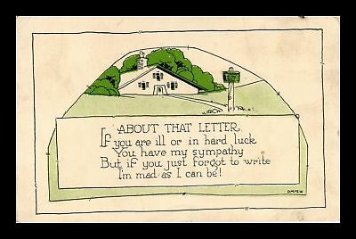 Dr Jim Stamps Us About That Letter Har Luck Topical Greetings Postcard
