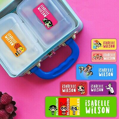 Power Girls Series Personalised Name Label for kids, microwavable