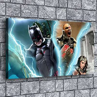 Batman wonder woman HD Canvas prints Painting Home Decor Picture Room Wall art 9