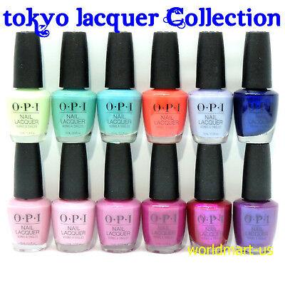 OPI Lacquer Nail Polish TOKYO Collection Set of 12 Colors