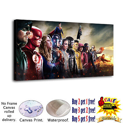 "12""x24""Super hero HD Canvas prints Painting Home Decor Picture Room Wall art"