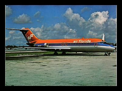 Dr Jim Stamps Air Florida Douglas Dc 9 Airplane Continental Size Postcard
