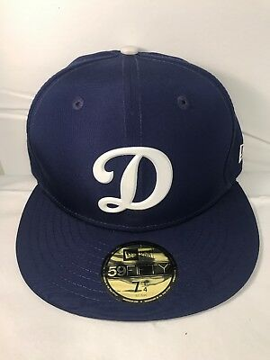 "New Era 59Fifty MLB Cap Los Angeles Dodgers ""D"" Dark Royal Blue Fitted Hat"