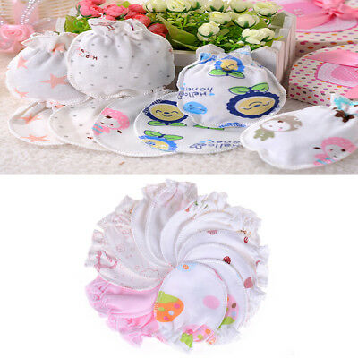 1 Pair Baby Infant Soft Cotton Anti Mittens Gloves Baby Kids FR