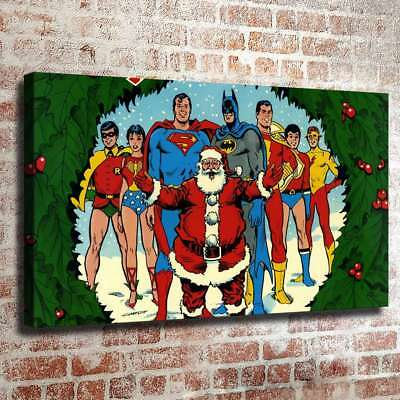 Super hero christmas HD Canvas prints Painting Home Decor Room Wall art 109953