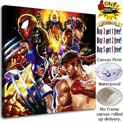 """12""""x12""""Super hero Poster HD Canvas print Paint Home Decor Picture Room Wall art"""