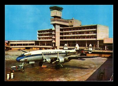 Dr Jim Stamps Bogota Airport Avianca Airplane Continental Size Postcard