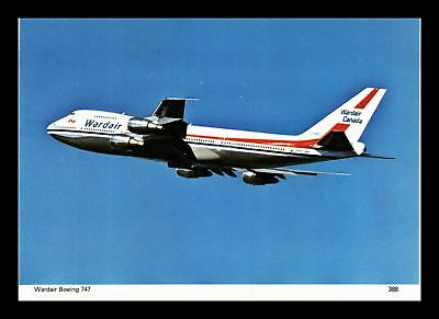 Dr Jim Stamps Wardair Boeing 747 Airplane Continental Size Postcard