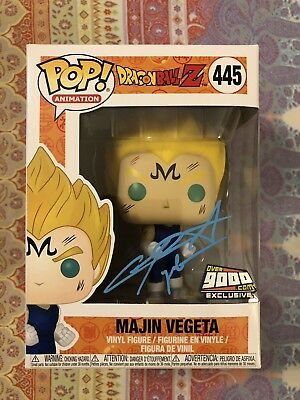 Funko Pop! Majin Vegeta Over 9000.com Exclusive Signed Sabat Dragon Ball Z