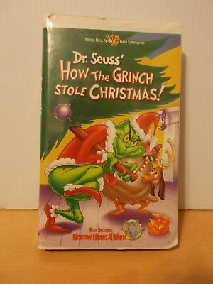 Dr. Suess' How The Grinch Stole Christmas Horton Hears A Who VHS Video Clamshell