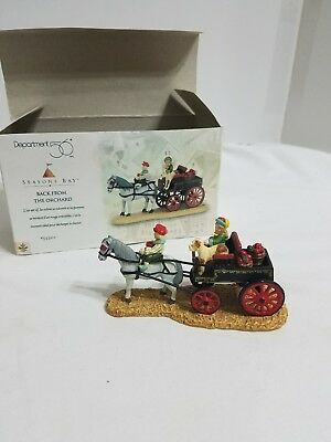 Dept 56 Seasons Bay Back From the Orchard