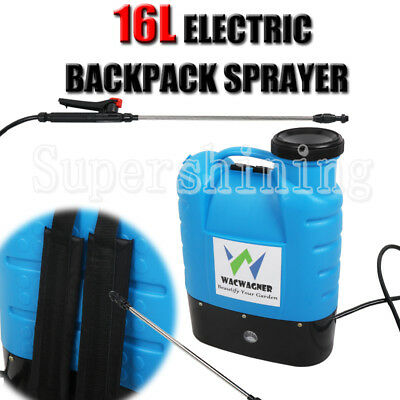 16L Electric Spray 12V Garden Weed Sprayer Rechargeable Backpack Farm Pump Tool