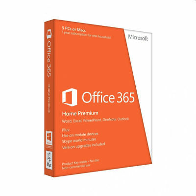 Microsoft Office 365 Home 1 Year Subscription for PC or Mac 12 Months