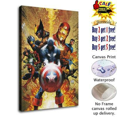 "12""x18""Super hero HD Canvas prints Painting Home Decor Picture Room Wall art"