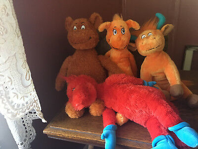 Kohl's Cares for Kids- Dr. Seuss Lot of 4 Plush Animals- Fox in the Socks