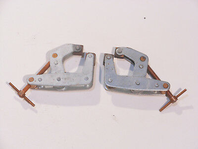 """Lot of (2) Kant Twist 405 CANTILEVER CLAMPS MADE IN USA Welding Clamps 2"""""""