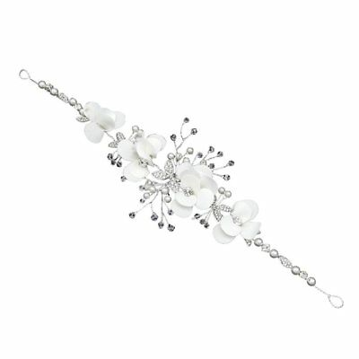 Wedding Flower Diamond Butterfly Headband Rhinestone Hair Band Accessories M2