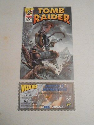 Tomb Raider #1/2 (Wizard) Variant Cover Certificate of Authenticity (9.0 VF/NM)