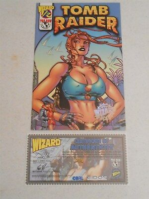 Tomb Raider #1/2 (Wizard) Variant Cover Certificate of Authenticity (9.2 NM-)