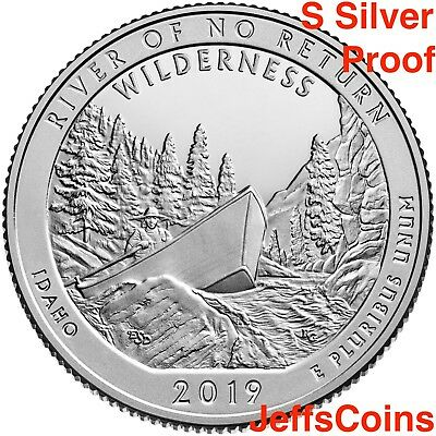 2019 S Frank Church River of No Returns Wilderness Area 99% SILVER Proof Quarter