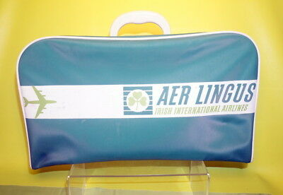 Vintage Aer Lingus Irish Airlines Luggage Carry On Bag Clover Ireland