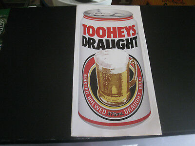 Tooheys Draught 375 Ml Can Sticker