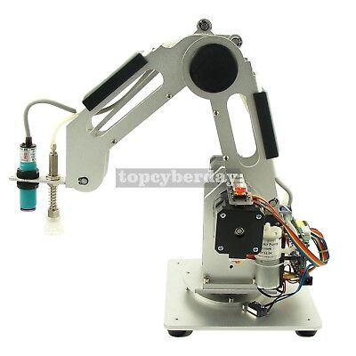 Mechanical Robot Arm 3Axis Desktop Production Line Carry Aluminum Alloy 6061 Sil