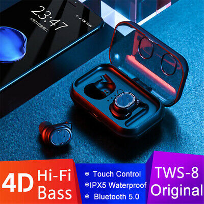 Bluetooth 5.0 True Wireless Sport Earbuds TWS Stereo Earphones In-Ear Headphone
